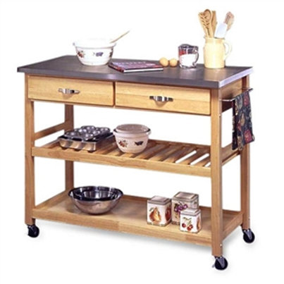 Home > Kitchen > Utility Tables & Workbenches > Stainless Steel Top Kitchen C