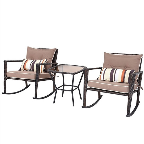 Home > Outdoor > Outdoor Furniture > Patio Furniture Sets > Brown 3 Piece Pat