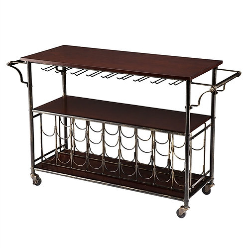 Home > Kitchen > Wine Racks and Coolers > Wood Top Kitchen Island Wine Rack C