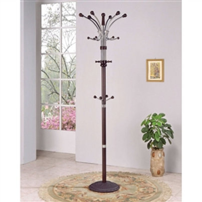 Home > Accents > Coat Racks > Wood and Metal Coat Rack Hat Stand with Hooks o