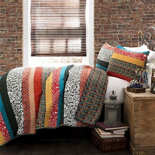 Home > Bedroom > Quilts & Blankets > King size 3-Piece Quilt Set in Modern Co