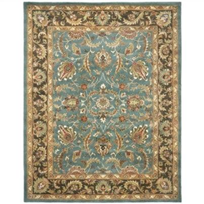 Home > Accents > Rugs > Handmade Heritage Blue/ Brown Wool Rug (9'6 x 13'6)