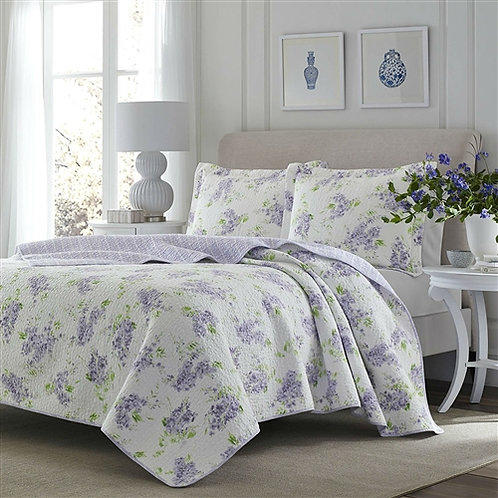 Home > Bedroom > Quilts & Blankets > King size 3-Piece Cotton Quilt Set with