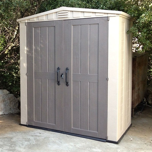 Home > Outdoor > Storage Sheds > Outdoor 3 x 6-ft Storage Shed in Taupe Brown