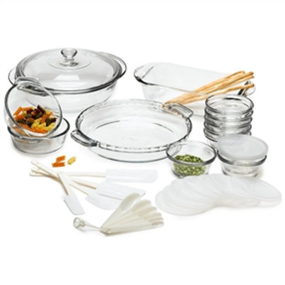 Home > Kitchen > Cookware Sets > 33-Piece Glass Cookware Set - Made in the US