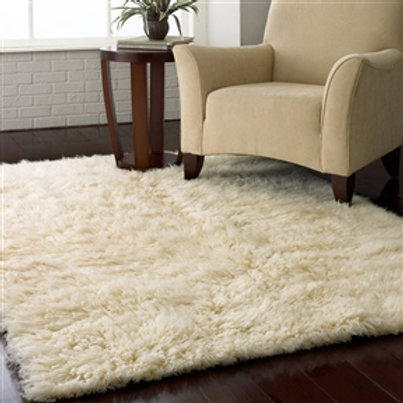 Home > Accents > Rugs > 4-ft x 6-ft Hand Woven Wool Flokati Area Rug in Natur