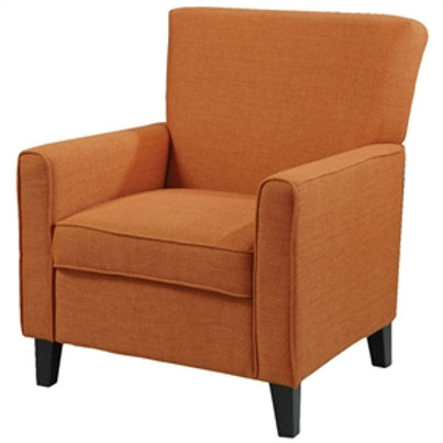 Home > Living Room > Accent Chairs > Orange Fabric Contemporary Living Room A