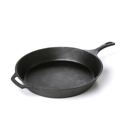 Home > Kitchen > Frying Pan > Pre-Seasoned Cast Iron 15-inch Round Skillet