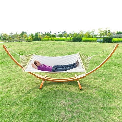 Home > Outdoor > Outdoor Furniture > Hammocks > White Cotton Polyester Hammoc