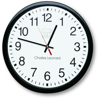 Home > Accents > Clocks > 14-Inch Quartz Black and White Wall Clock