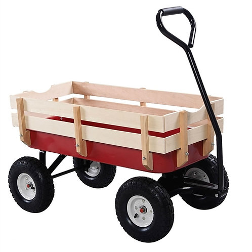 Home > Outdoor > Gardening > Wheelbarrows Carts Wagons > Sturdy Red Wood Pane