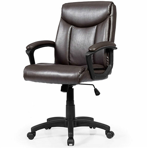 Home > Office > Office Chairs > Comfortable Ergonomic Brown Faux Leather Offi