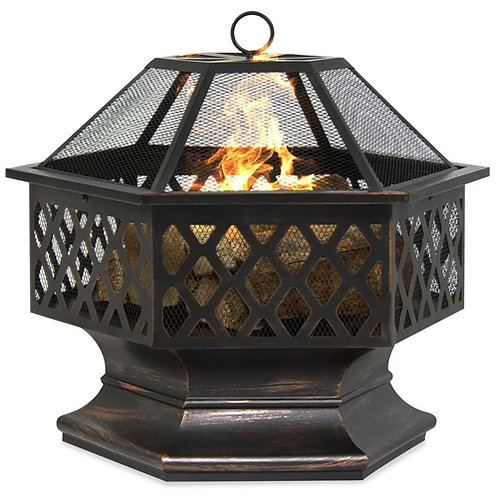 Home > Outdoor > Outdoor Decor > Fire Pits > 24 Inch Steel Distressed Bronze