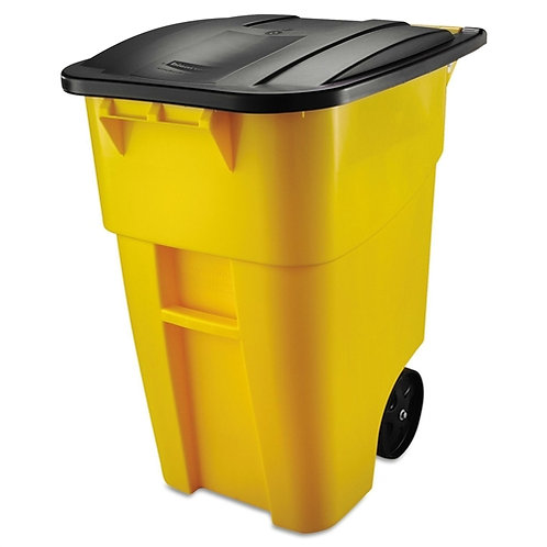 Home > Kitchen > Trash Cans & Recycle Bins > 50 Gallon Yellow Commercial Heav