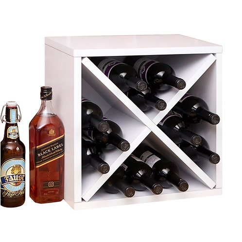 Home > Kitchen > Wine Racks and Coolers > 12-Bottle Stackable Wine Rack in Wh
