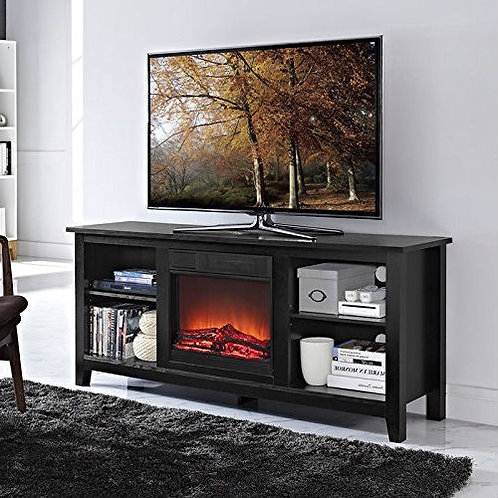 Home > Living Room > TV Stands and Entertainment Centers > 2-in-1 Black Wood