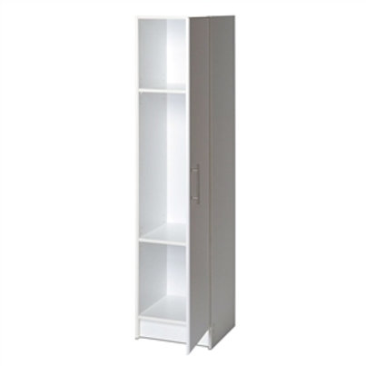 Home > Accents > Storage Cabinets > White Tall Storage Cabinet for Brooms and