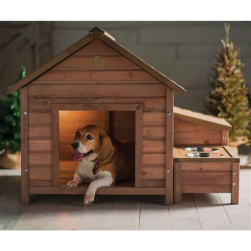 Home > Outdoor > Dog House & Cat Houses > Solid Wood A-Frame Outdoor Dog Hous