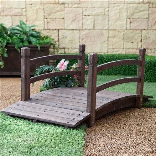 Home > Outdoor > Garden Bridges > Dark Brown Stain Fir Wood 4-Ft Garden Bridg