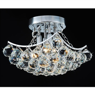 Home > Lighting > Chandeliers > Indoor 4-Light Chrome And Crystal Flushmount