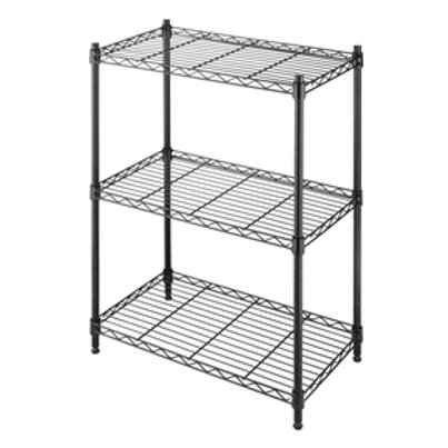 Home > Accents > Shelving Units > Small 3-Shelf Storage Rack Shelving Unit in