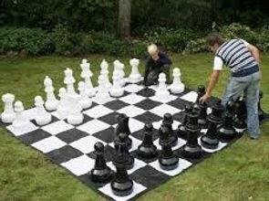 giant chess set rental