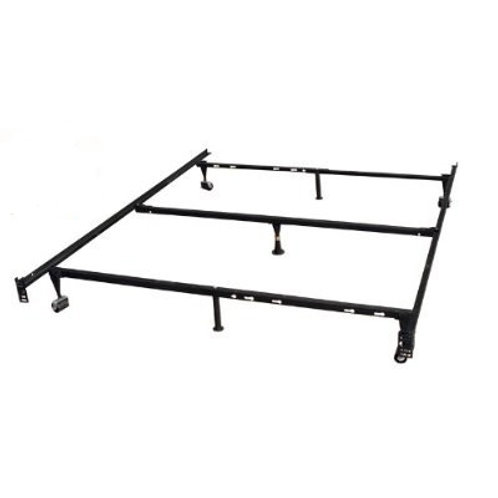 Heavy Duty 7-Leg Metal Bed Frame / Adjust to fit Twin, Full, & Queen