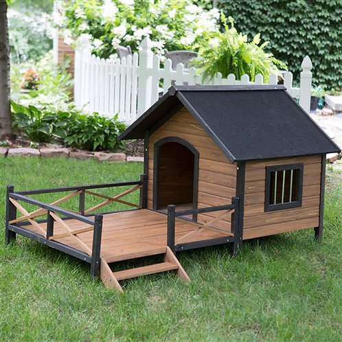 Home > Outdoor > Dog House & Cat Houses > Large Solid Wood Outdoor Dog House