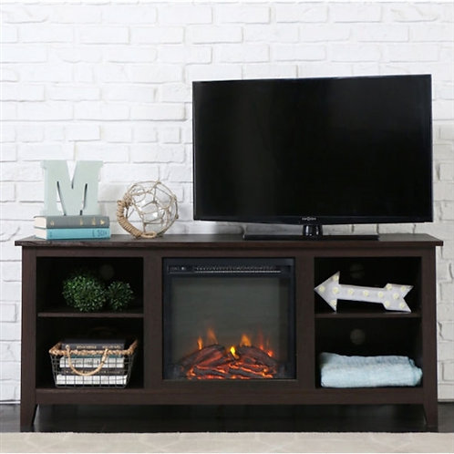 Home > Accents > Electric Fireplaces > Espresso 2-in-1 Electric Fireplace TV