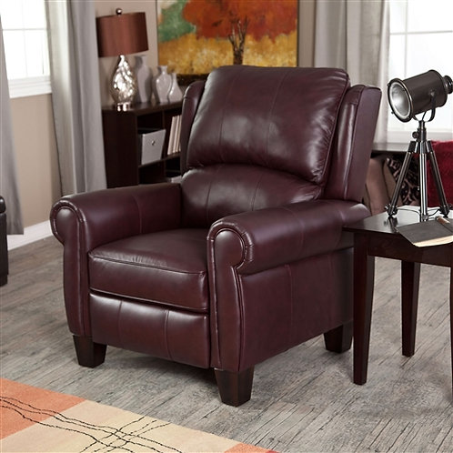 Home > Living Room > Recliners and Leather Recliner > Burgundy Top-Grain Leat