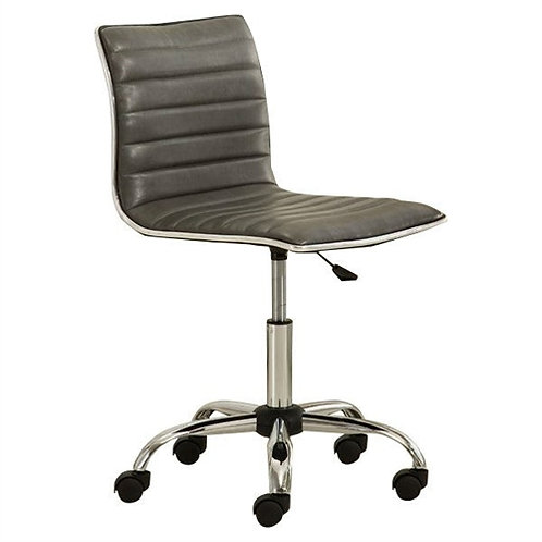 Home > Office > Office Chairs > Heavy Duty Gray Channel-Tufted Conference Cha