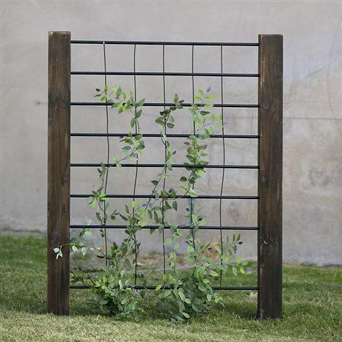 Home > Outdoor > Gardening > Trellises > 3-Ft High Sturdy Dark Wood and Steel