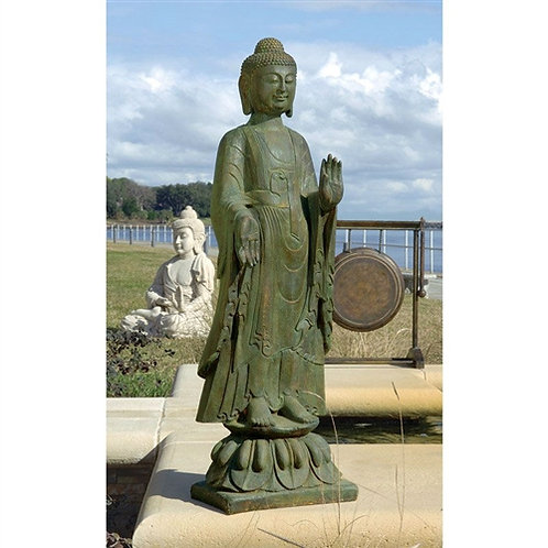 Home > Outdoor > Outdoor Decor > Garden Statues > Buddha Standing on Lotus Fl