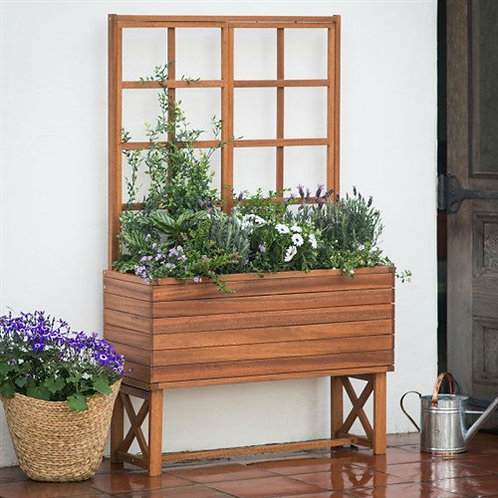 Home > Outdoor > Gardening > Planters > Modern Solid Wood Elevated Planter Bo