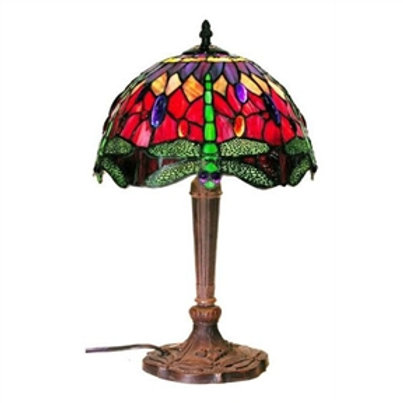 Home > Lighting > Table Lamps > Tiffany Style Table Lamp with Dragonfly Desig