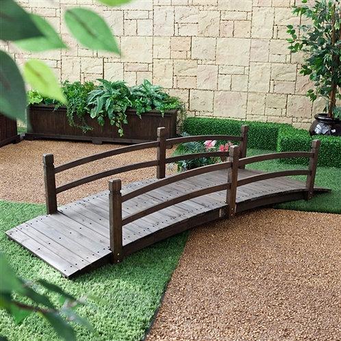 Home > Outdoor > Garden Bridges > Dark Brown Stain 8-Ft Fir Wood Garden Bridg