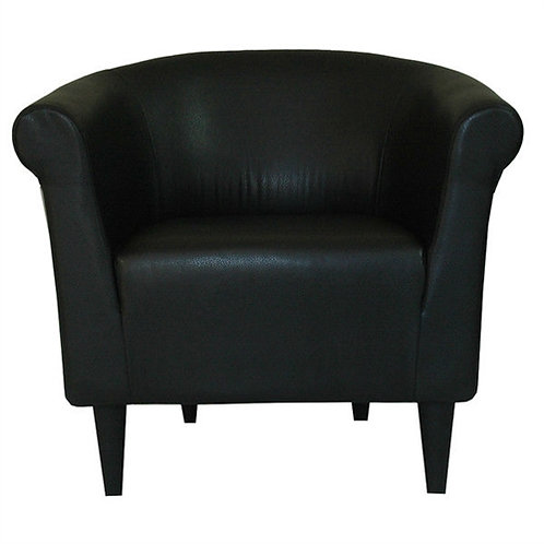 Home > Living Room > Accent Chairs > Contemporary Classic Black Faux Leather