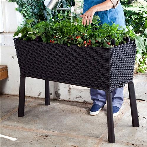 Home > Outdoor > Gardening > Planters > Modern Dark Brown Resin Wicker Raised