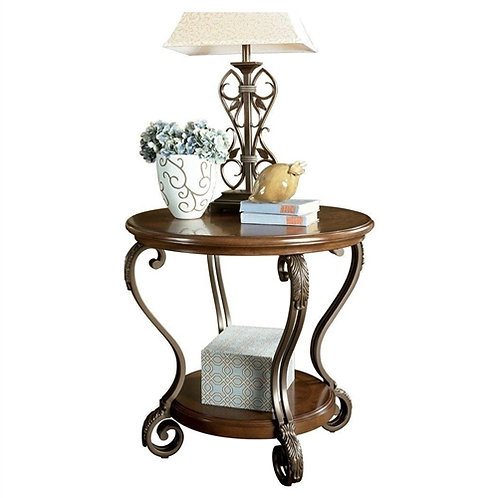 Home > Bedroom > Nightstand and Dressers > Accent End Table Nightstand in Bro