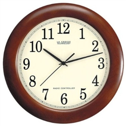 Home > Accents > Clocks > 12.5-inch Atomic Analog Wall Clock with Wood Finish