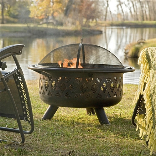 Home > Outdoor > Outdoor Decor > Fire Pits > 36-inch Bronze Fire Pit with Gri