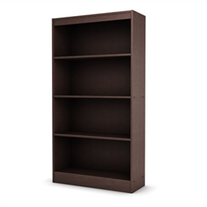 Home > Living Room > Bookcases > 4 Shelf Bookcase in Dark Chocolate Finish