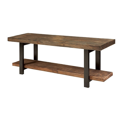 Home > Accents > Benches > Modern Industrial Style Wood and Metal Accent Benc