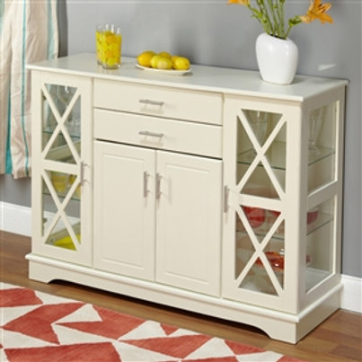 Home > Dining > Sideboards & Buffets > White Wood Buffet Sideboard Cabinet wi