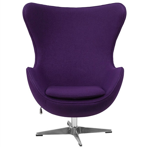 Home > Living Room > Accent Chairs > Purple Wool Fabric Upholstered Mid-Centu