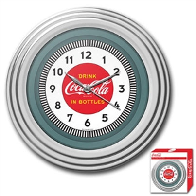 Home > Accents > Clocks > 30s Style Chrome Coca-Cola Wall Clock