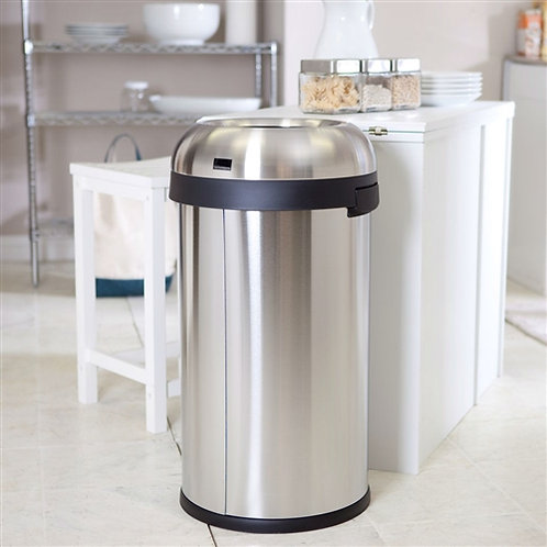 Home > Kitchen > Trash Cans & Recycle Bins > Round Stainless Steel 16-Gallon