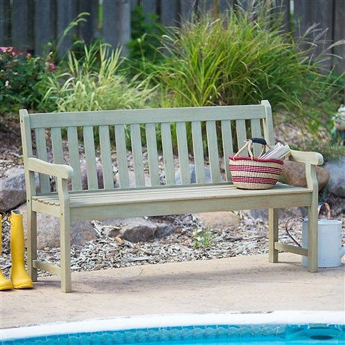 Description     This Outdoor Cedar Wood Garden Bench in Natural with 475lbs