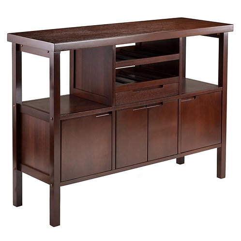 Home > Dining > Sideboards & Buffets > Sideboard Buffet Table Wine Rack in Br