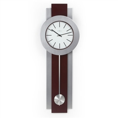 Home > Accents > Clocks > Modern Pendulum Style Wall Clock in Dark Merlot Che